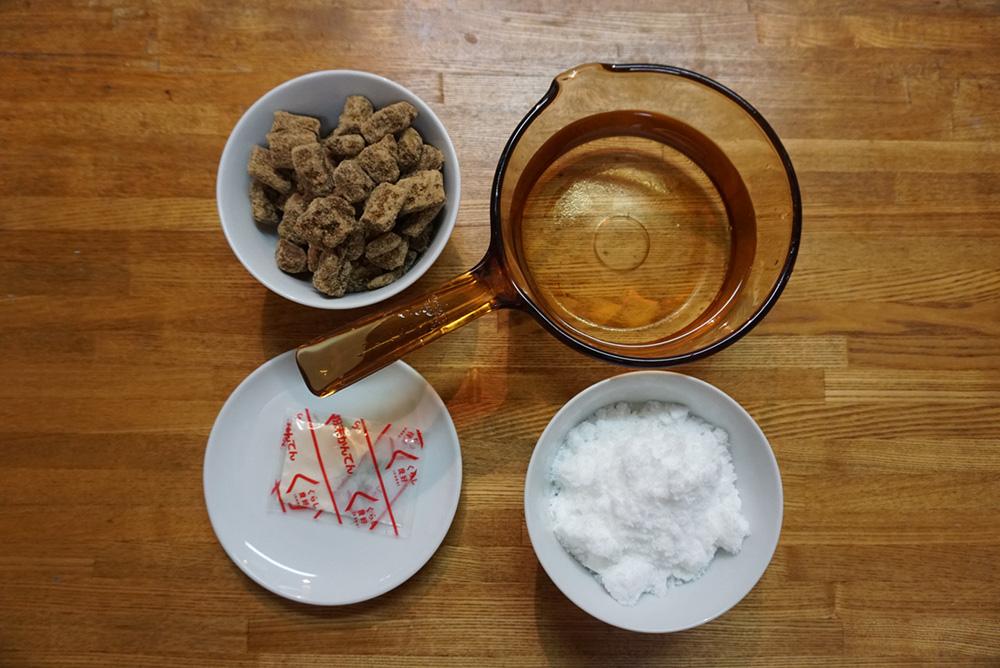黒蜜寒天 レシピ 食材 栃木のしょく