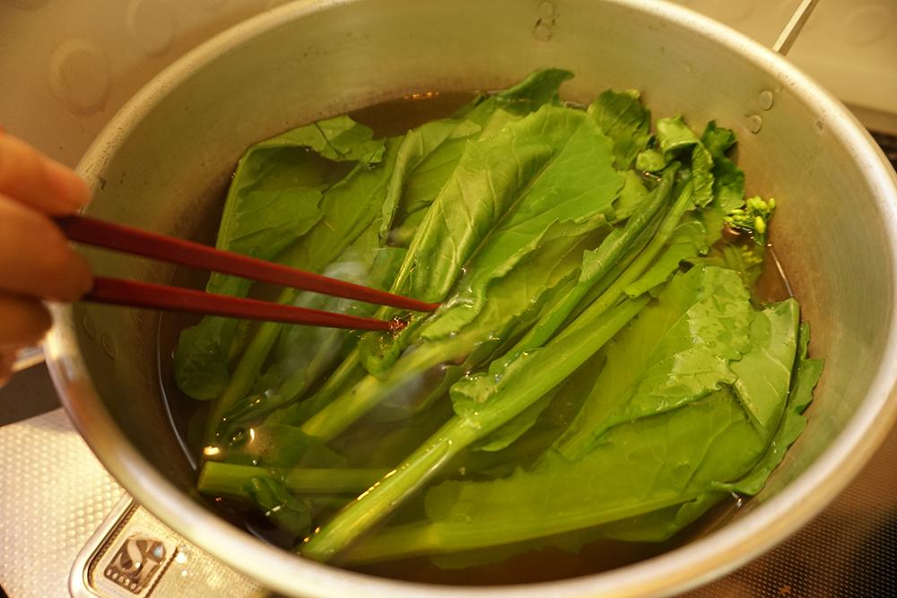 かき菜の磯香和え ゆでる レシピ とちぎのしゅし