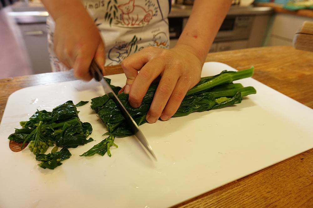 かき菜の磯香和え 切る レシピ とちぎのしゅし