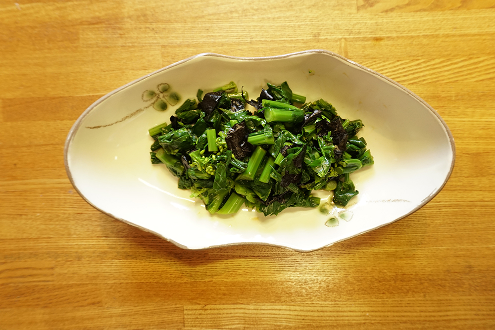 かき菜の磯香和え レシピ 完成品 とちぎのしょく
