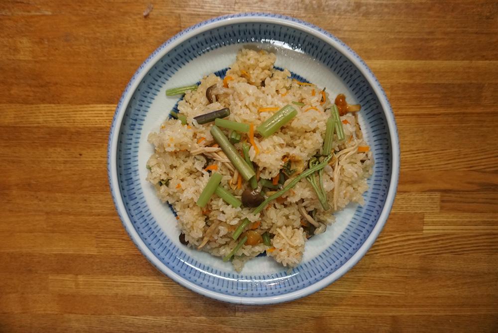 山菜おこわ 完成品 レシピ 栃木県 郷土料理