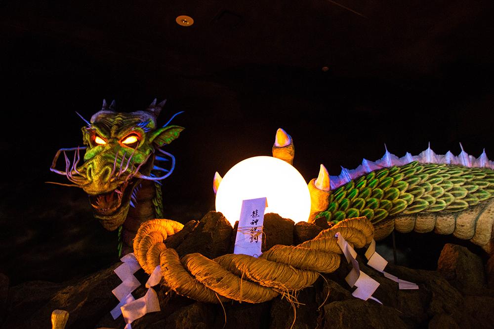 龍の人形 龍門の滝 那須烏山市 栃木県 観光