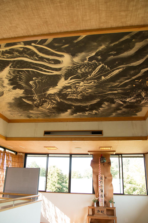 龍の絵 天井 龍門の滝 那須烏山市 栃木県 観光