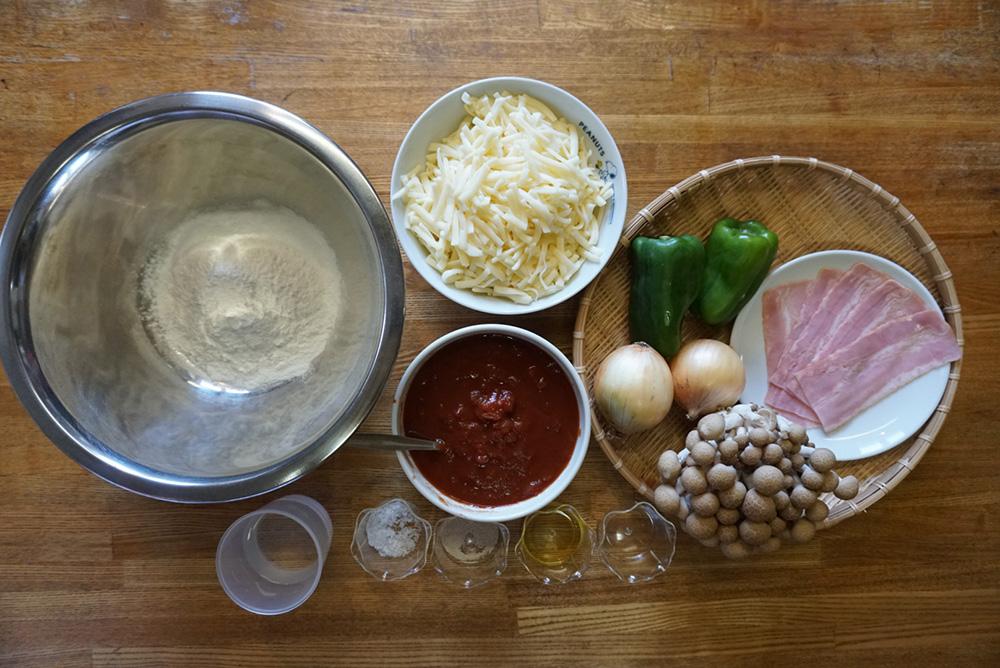食材一覧 生地をつくる 米粉ピザ レシピ 栃木県 郷土料理
