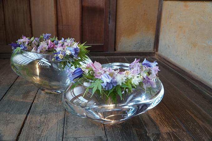 花とガラスの花瓶 はなうつわ(あしかがアートクロス)足利市