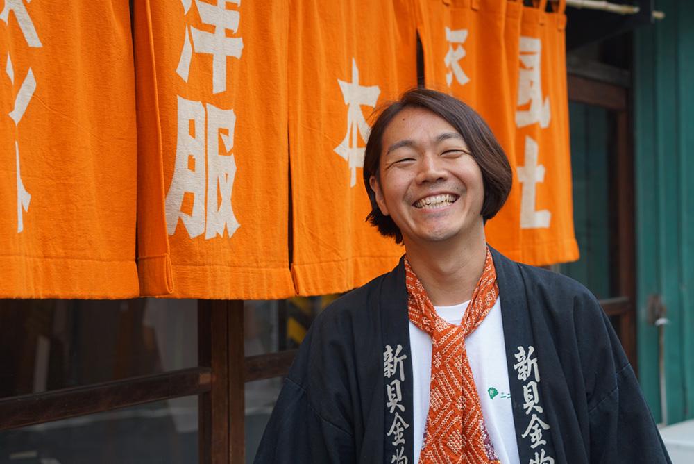 柿次郎 のれん1 「やってこ!シンカイ」長野県長野市 とちぎのしゅし