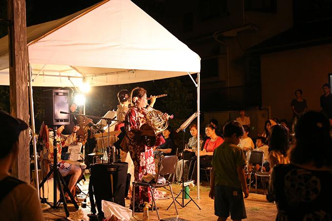 音楽ステージ 益子夜市 栃木県益子町 とちぎのしゅし