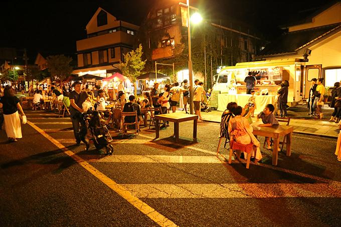 歩行者天国 益子夜市 栃木県益子町 とちぎのしゅし