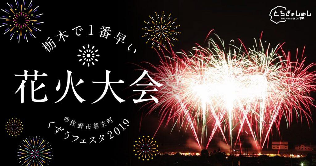 くずうフェスタ 花火メイン画像 栃木県 佐野市 とちぎのしゅし